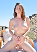 Amber Hahn fucking herself and spreading pussy poolside #03