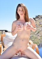 Amber Hahn fucking herself and spreading pussy poolside #04