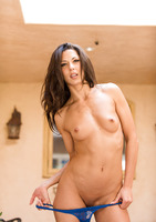 Tight bodied milf Alexa Tomas stripteasing outdoors #11
