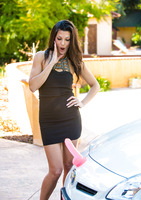 Sexy milf Alexa Tomas playing with dildos outdoors #01