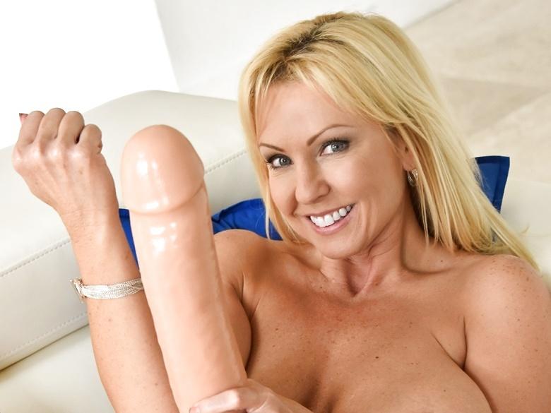 Blonde milf Alysha says go big or go home!