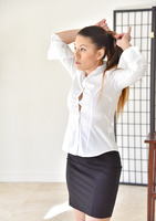 Nikko is a sexy mature lady in Little Black Skirt #01