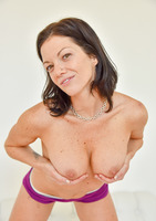 Lynn a workout milf in Sexy In Purple #07