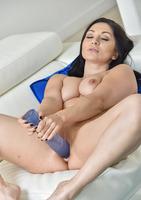 Lea a horny milf using a super large dildo #08