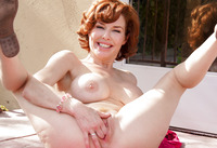 Veronica showing her busty body in Explicit Pinup #13