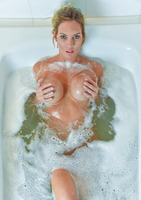 Janelle is a blonde milf with big tits bathing #11