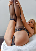 Gorgeous milf Sandy teasing in thigh high stockings #10