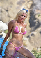 Busty milf Jewel in her southern style poolside #10