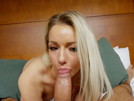 Adorable blonde in her first porn scene ever