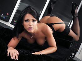 Fine ass brunette Adriana Chechik getting her ass fucked