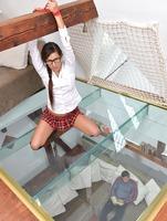 Schoolgirl pisses on the floor, then gets punished #01