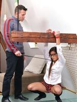 Schoolgirl pisses on the floor, then gets punished #05