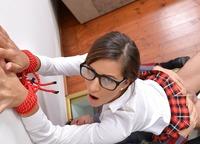 Schoolgirl pisses on the floor, then gets punished #14