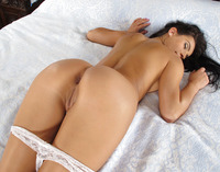 Lexi Dona stripping on bed and showing pussy closeup #07