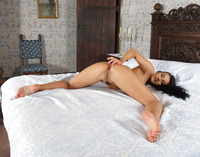 Lexi Dona stripping on bed and showing pussy closeup #12