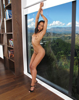 Ebony babe Skin Diamond reveals her nice round ass #09
