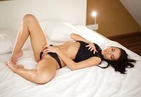 Slender babe Sapphira fingering pussy in the bedroom #07