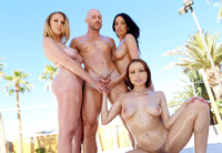 Three horny bitches in wet and messy spring break orgy #05
