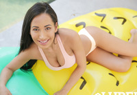 Amia Miley in Wet Pool Tease #01