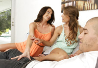Mom teaches her step-daughter all about threesomes #04