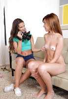 Cassidy Klein interviews redhead Kaylee Haze for 3some #02