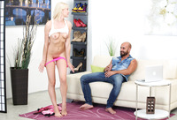 Bree Haze is a playful blonde getting poked on the sofa #04