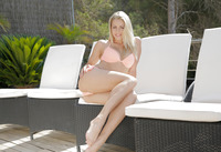 Horny blonde Christen Courtney takes it in the ass poolside #01