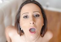 Ashley Adams gets a huge mouthful of jizz #16