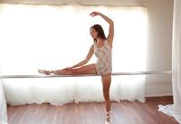 Ballerina babe Melissa Moore stripping off leotard #02