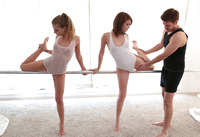 Young ballerinas Dakota and Sydney indulge in threesome #03