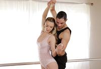 Skinny cutie Molly Mae peels off leotard and fucks coach #03