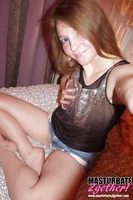 Adorable girl does a photo shoot at home #07