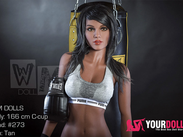 Sex doll Sela is practicing boxing