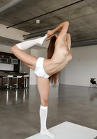 Flexible girl Michelle Taylor shows off her splits #02