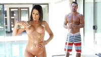 Makayla Cox is all oiled up and ready to fuck #05