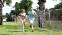 Mature babe Cory Chase gets worked up while jogging #01