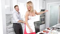 Mature babe Destiny Dixon seducing in the kitchen #02