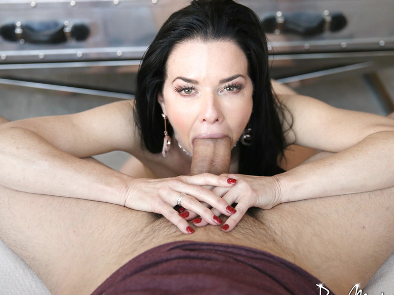 Veronica Avluv is a busty mature lady seducing a younger guy
