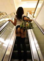 Holly Hendrix walking around the mall bare assed in chaps #05