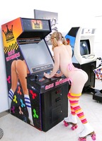 Teen in roller skates getting fucked at the arcade #04