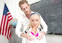 Cleo Vixen getting her pussy hammered in class #02