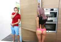 Skinny teen Janice filled with big dick in the kitchen #01