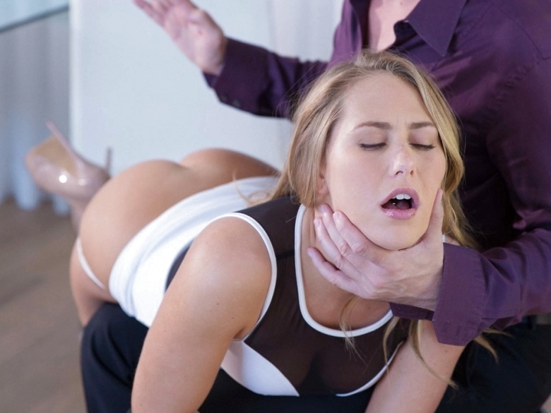 Carter Cruise gets a spanking for bad behaviour
