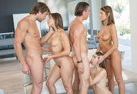 August Ames Abella Danger Riley Reid in group sex #09