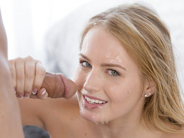Scarlett Sage has hard nipples and a big dick to play with