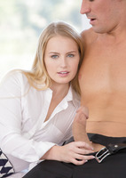 Scarlett Sage has hard nipples and a big dick to play with #07