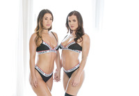 Eva Lovia &  Keisha Grey sharing fat dick #02